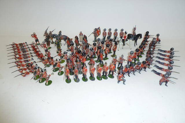 Britains early British Army figures marching and in action 94