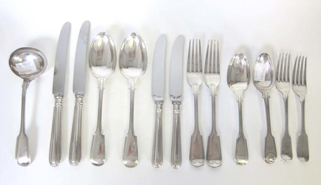 A quantity of silver Fiddle and Thread pattern flatware by Henry Williamson Ltd, Sheffield 1905 and other items (54)