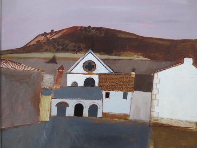 David Humphreys (British, born 1937) Carmarthenshire village