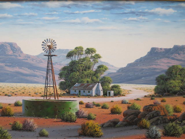 Paul Munro (South African b.1959) Karoo Windmill