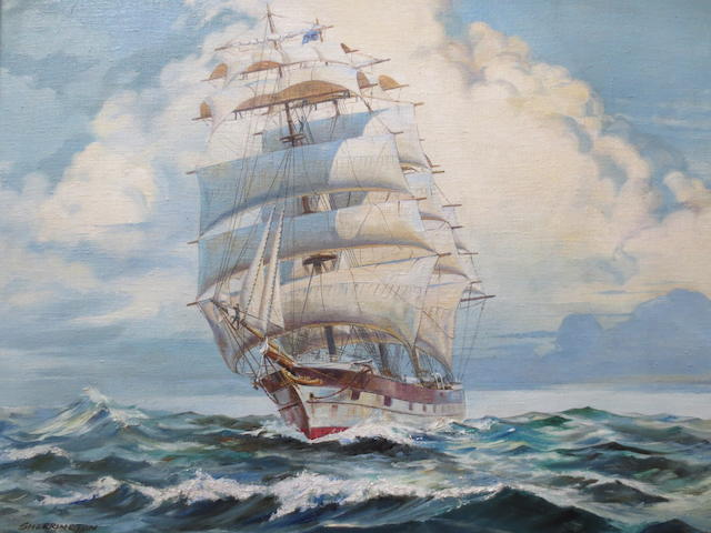 Sherrington (20th Century)Frigate at Full Sailsigned oil on canvas45.5 x 56cm (17 15/16 x 22 1/16in).