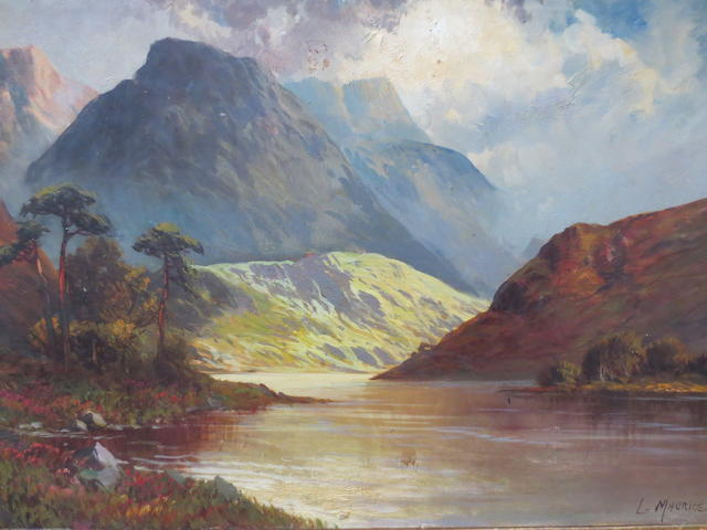 L. Maurice,Highland View,oil on canvas,41 x 62cm (16 1/8 x 24 7/16in).