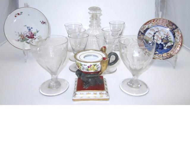A collection of glassware 19th century and later