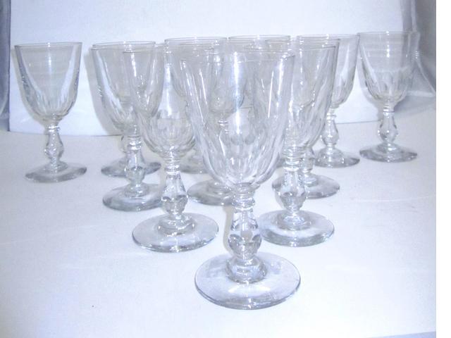 A set of twelve wine glasses Circa 1900