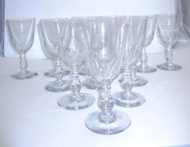 A set of twelve wine glasses Circa 1900