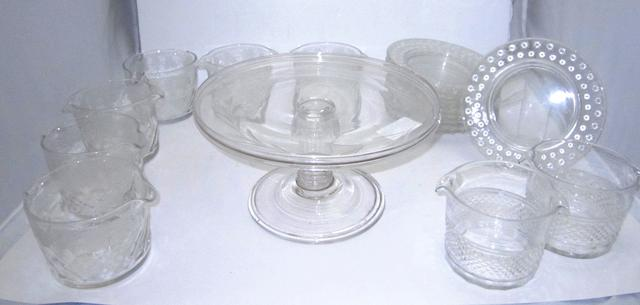 A collection of glass tableware Circa 1900 and later