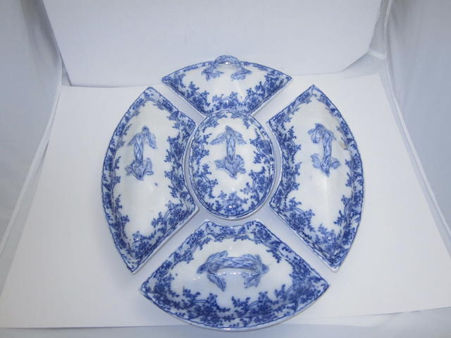A set of Victorian serving dishes