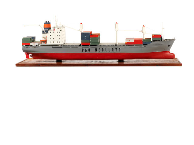 A model of the container ship P&O Nedlloyd Dubai 48.5x13.5x15ins. (123x34x38cm)