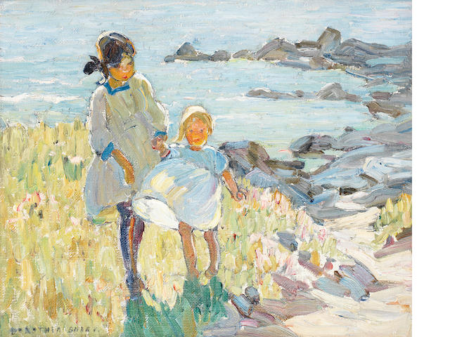 Dorothea Sharp (British, 1874-1955) By the sea 38.2 x 46 cm. (15 x 18 in.)