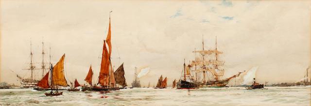 Charles Edward Dixon (British, 1872-1934) Off Purfleet