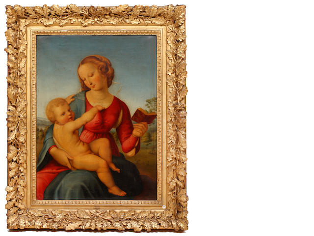 Manner of Raffaello Sanzio, called Raphael Virgin and Child