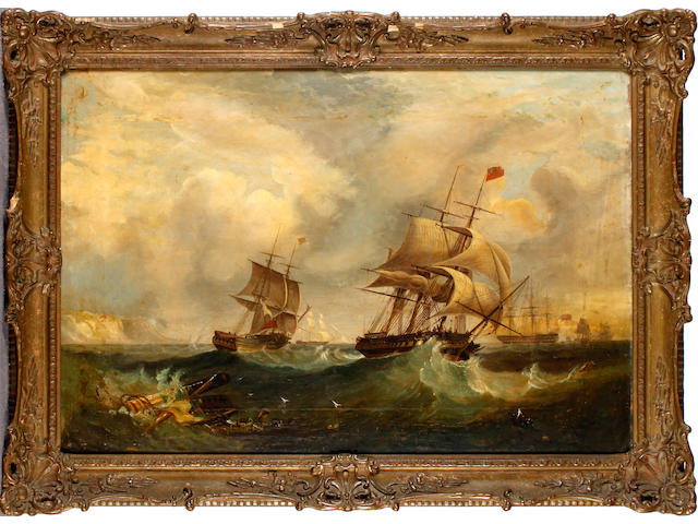 English School, 19th Century Shipping off Devon