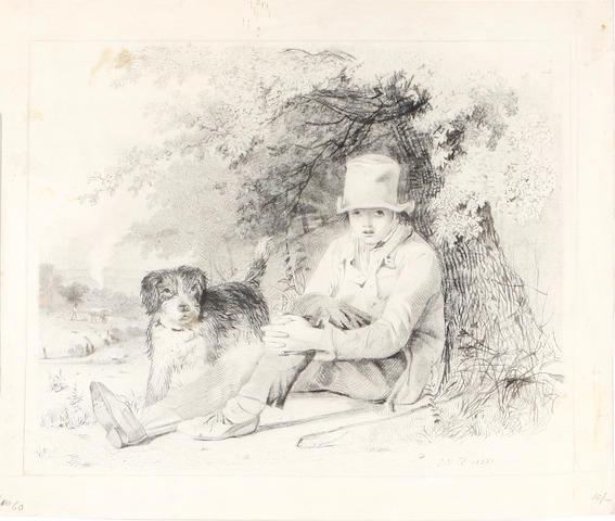 J** N** Rhodes, 19th Century A boy and his dog