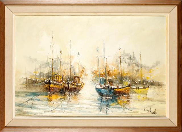 Ben Maile (British, born 1922) River scene