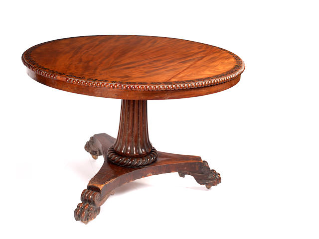 A George IV mahogany breakfast table,
