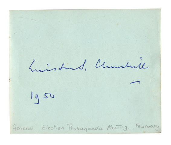 CHURCHILL (WINSTON) Autograph album signed by Churchill and others