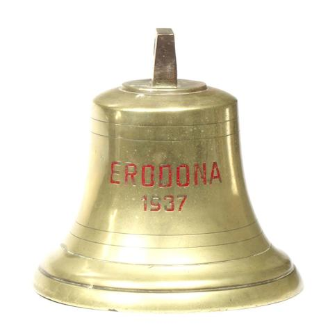 A Brass ship's bell, MV Erodona 1937.