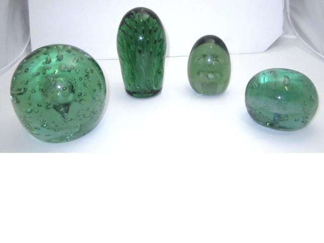 Four Victorian glass dumps