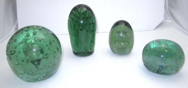 Four Victorian glass dumps