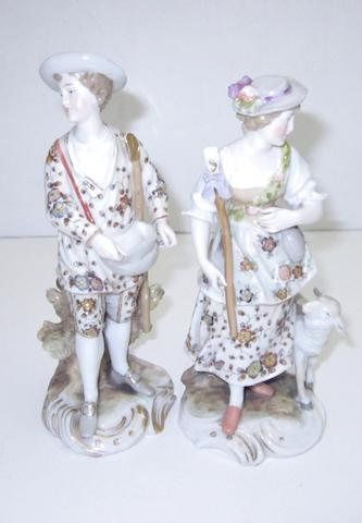 A pair of continental figures Circa 1900