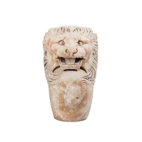 A Roman banded alabaster trapezophoros terminal
