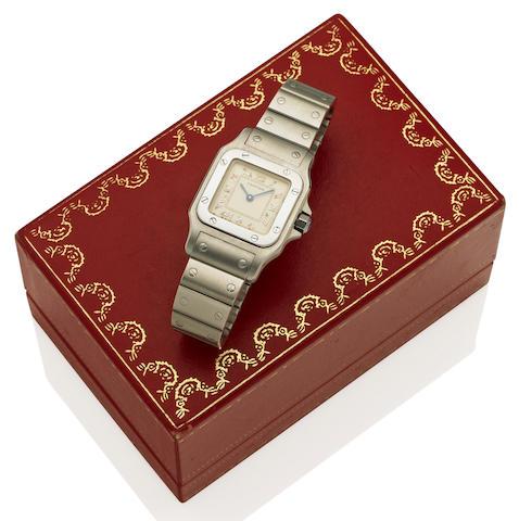 Cartier: A lady's stainless steel quartz wristwatch