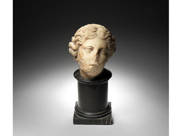 A Roman marble female head, circa 1st Century A.D. - CAN USE BIO IN FOOTNOTES