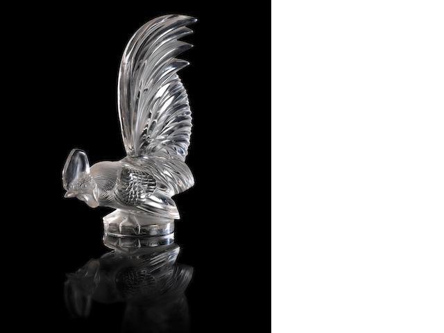 Lalique 'Coq Nain' mascot/ paperweight