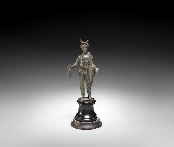 A Roman bronze figure of Hermes