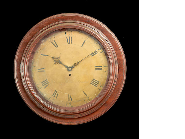 A late 18th century mahogany cased wall timepiece by Charles Howes, London