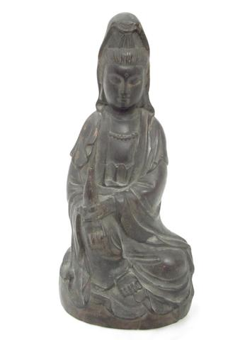 A hardwood seated Guanyin 19th century