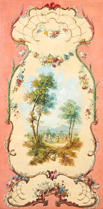 French School, 19th century Four Chinoiserie Paravents each: 192 x 97cm (75 9/16 x 38 3/16). unframed