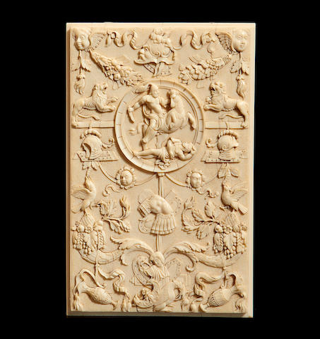 A late 19th century Dieppe ivory relief