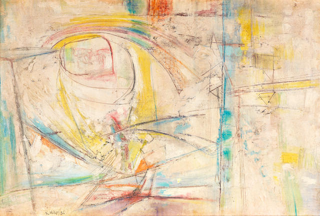 Nikos Kessanlis (Greek, 1930-2004) Untitled 65 x 100cm