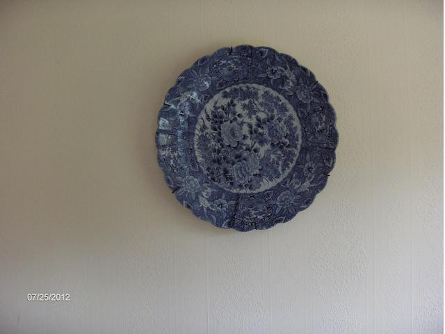 A Japanese Imari blue and white charger.