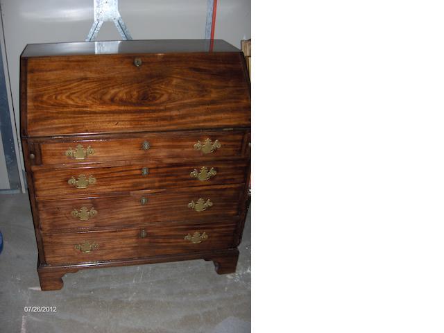 A Geo lll mahogany bureau