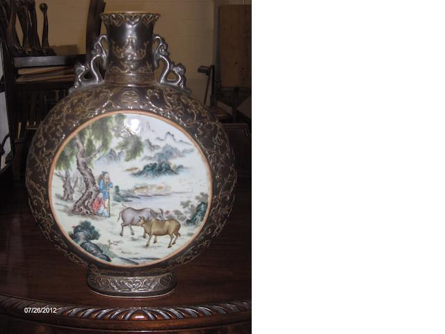 A Chinese moon flask