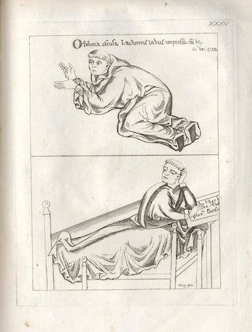 STRUTT (JOSEPH) Angleterre ancienne, our tableau des moeurs, usages, armes, habillemens..., 2 vol. bound in one, Paris, 1789