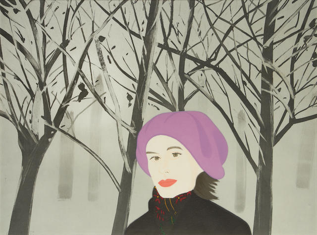 Alex Katz (American, born 1927) January 7 Aquatint printed in colours, 1993, on wove, signed and numbered 32/50 in pencil, the full sheet, 745 x 995mm (29 1/4 x 39 1/8in)(SH)