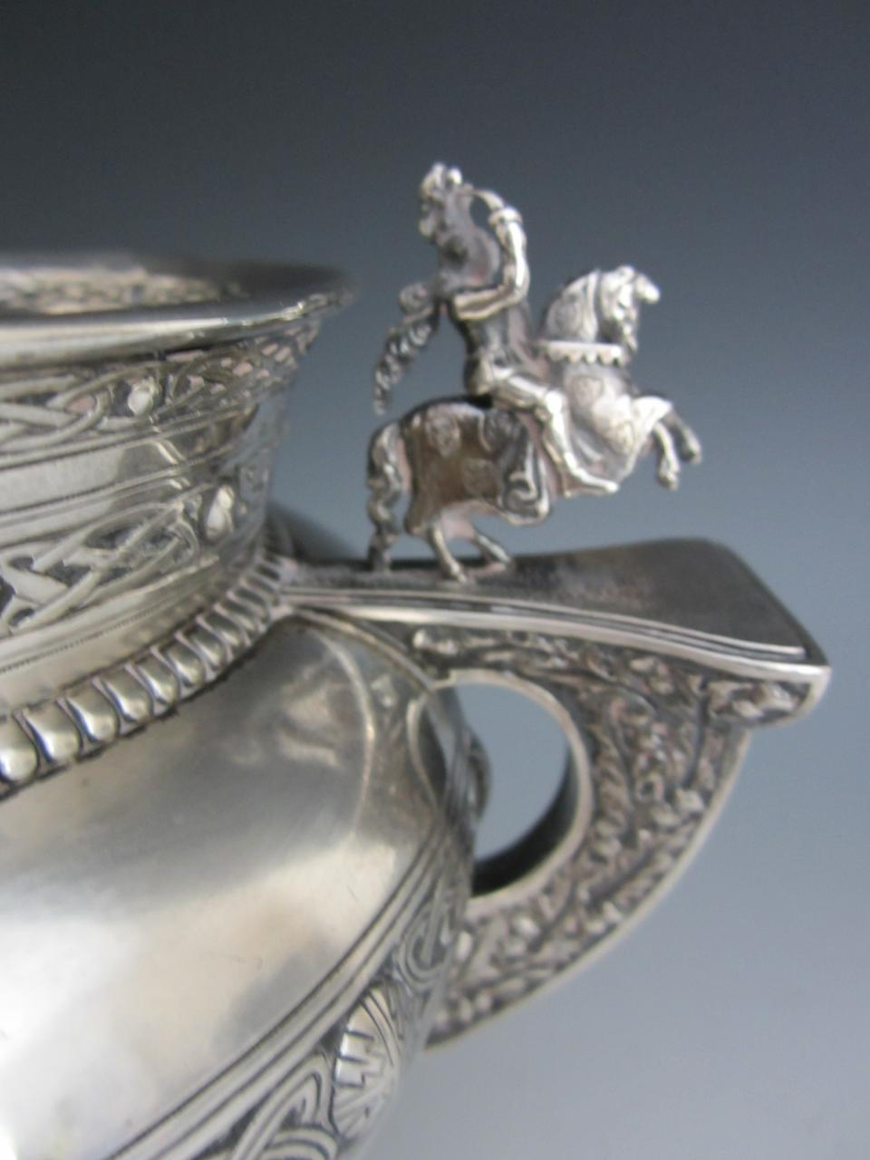 An Edwardian silver Celtic two-handled bowl by Hamiliton and Inches, Edinburgh 1909