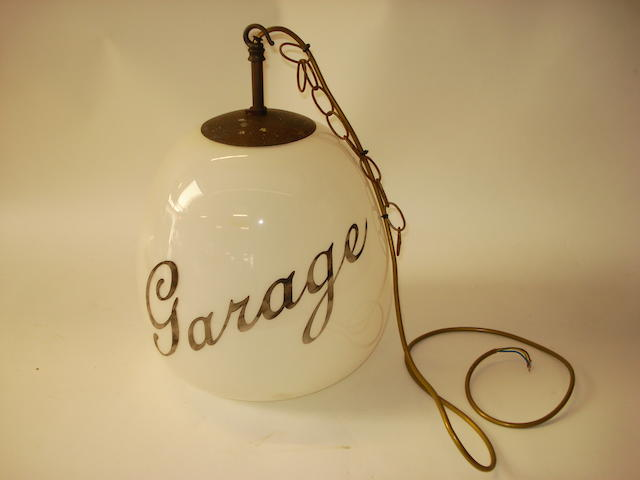 A 'Garage' forecourt advertising lampshade,