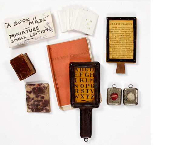 MINIATURE BOOKS The Bible in Miniature, or a Concise History of Old & New Testaments, 1780; and others (14)