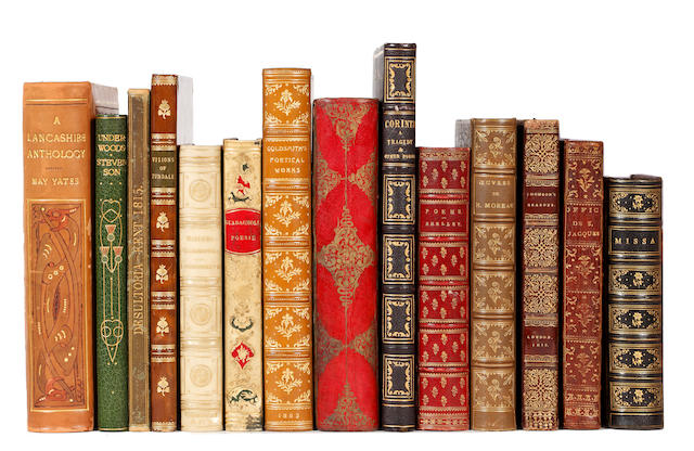 BINDINGS STEVENSON (ROBERT LOUIS) Underwoods, 1887; and 13 others, sold as bindings