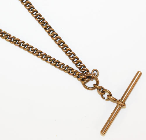 A 9ct gold Albert chain,