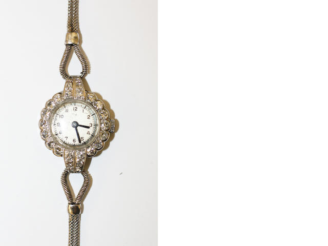 A ladies diamond set cocktail watch,