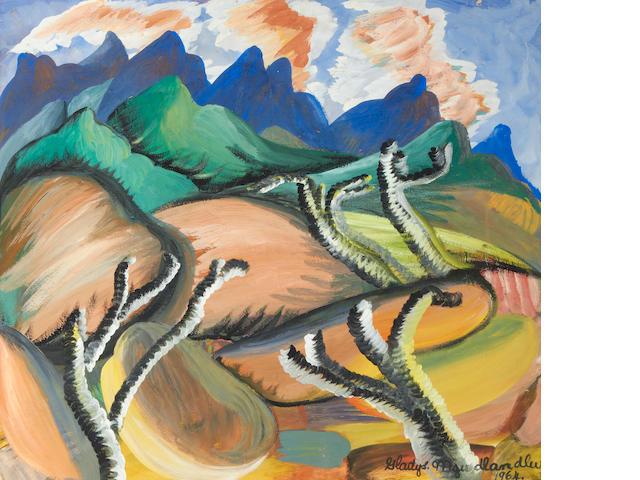 Gladys Mgudlandlu (South African, 1917-1979) Landscape