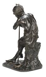 A Tokyo School bronze figure of a labourer By Kaniya Kuniharu (fl.circa 1869), Meiji Period