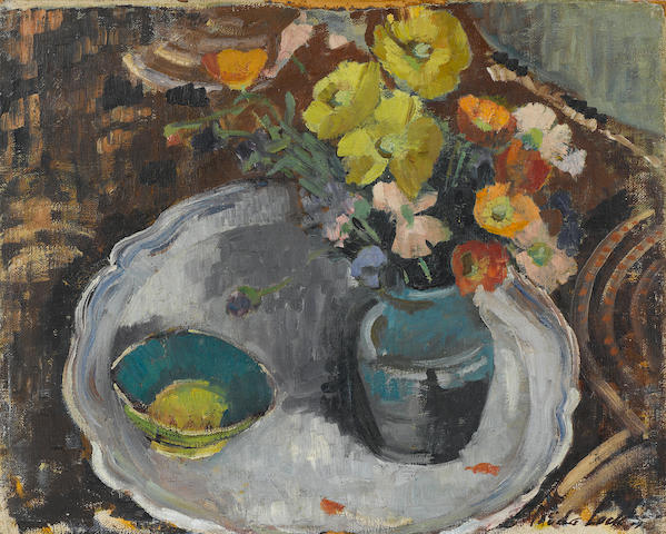 Freida Lock (South African, 1902-1962) Still life of flowers