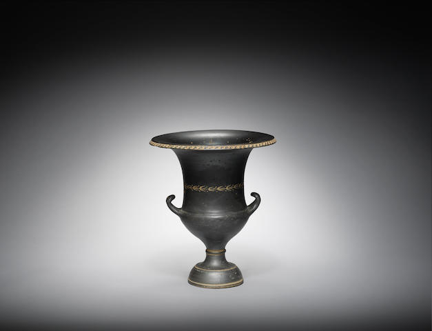 A South Italian black glazed kantharos
