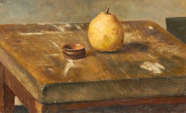 Richard Eurich A.R.A. (British, 1903-1992) 'Pear and ring'